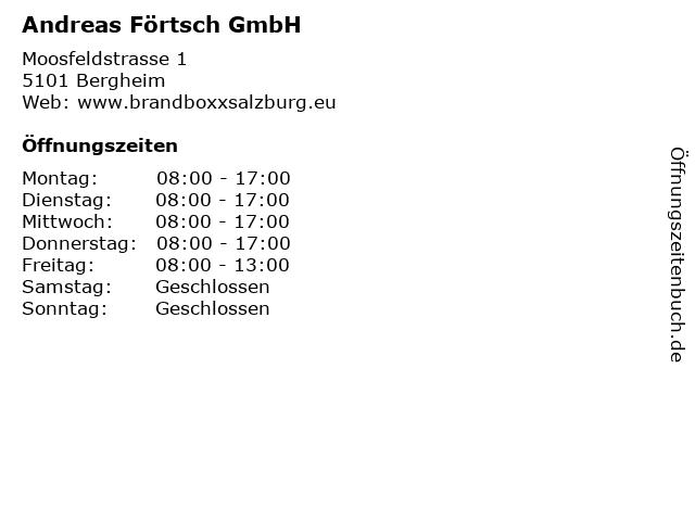 Andreas Förtsch GmbH in Bergheim: Adresse und Öffnungszeiten