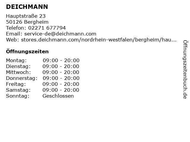 Deichmann Schuhe in Bergheim: Adresse und Öffnungszeiten