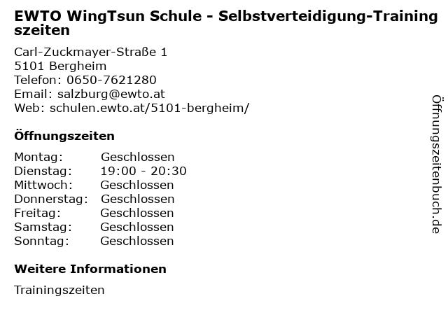 EWTO WingTsun Schule - Selbstverteidigung-Trainingszeiten in Bergheim: Adresse und Öffnungszeiten