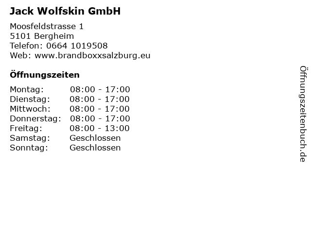 Jack Wolfskin GmbH in Bergheim: Adresse und Öffnungszeiten