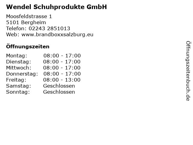 Wendel Schuhprodukte GmbH in Bergheim: Adresse und Öffnungszeiten
