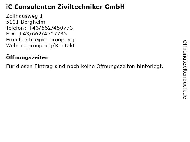 iC Consulenten Ziviltechniker GmbH in Wien: Adresse und Öffnungszeiten