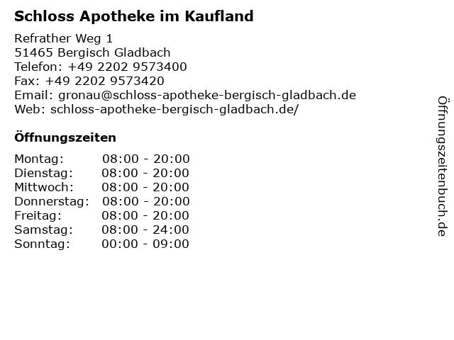 AVIE Apotheke im Kaufland in Bergisch-Gladbach: Adresse und Öffnungszeiten