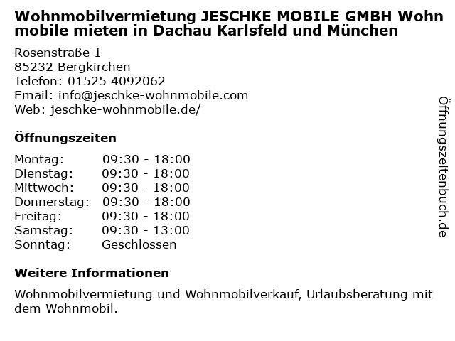 JESCHKE MOBILE GmbH in Bergkirchen: Adresse und Öffnungszeiten