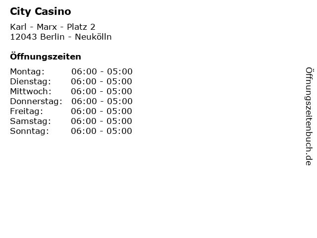 City Casino in Berlin - Neukölln: Adresse und Öffnungszeiten