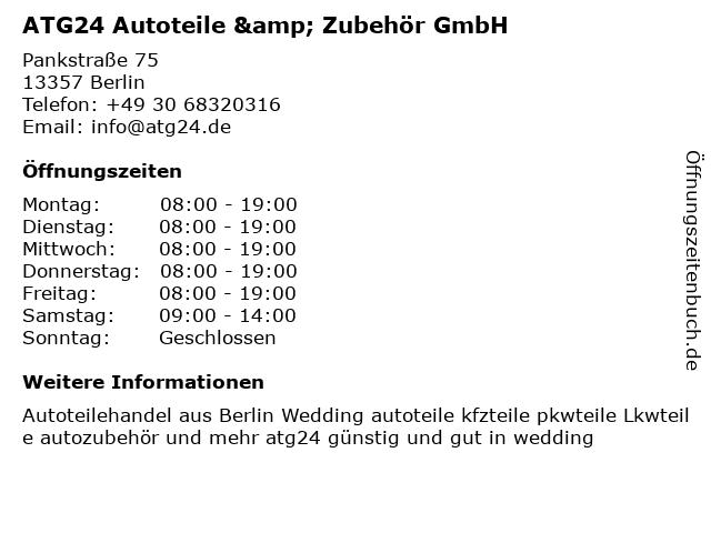 ATG24 Autoteile & Zubehör GmbH in Berlin: Adresse und Öffnungszeiten