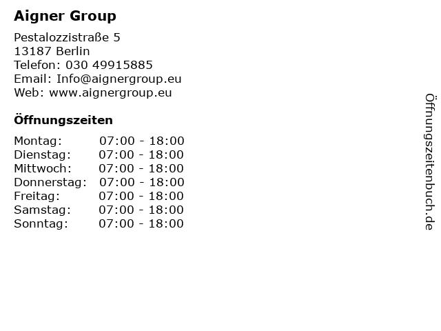 Aigner Group in Berlin: Adresse und Öffnungszeiten
