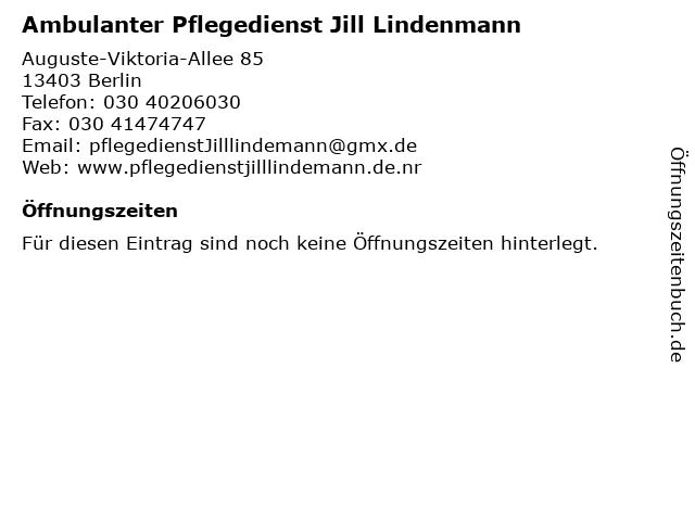 Ambulanter Pflegedienst Jill Lindenmann in Berlin: Adresse und Öffnungszeiten