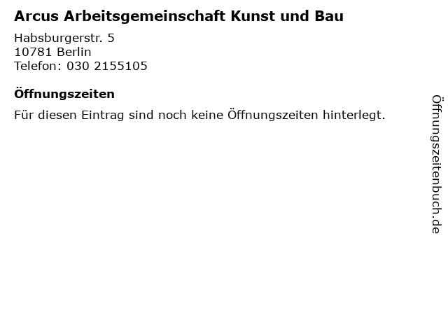 Arcus Arbeitsgemeinschaft Kunst und Bau in Berlin: Adresse und Öffnungszeiten
