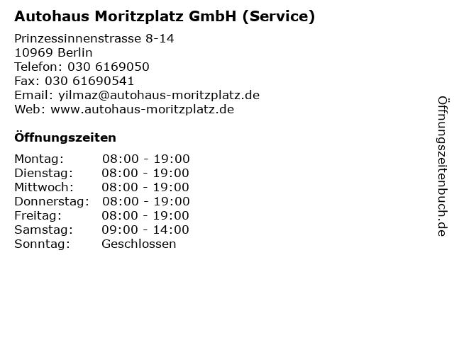 Autohaus Moritzplatz GmbH (Service) in Berlin: Adresse und Öffnungszeiten