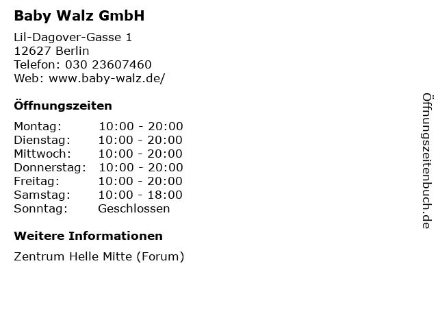 Baby Walz GmbH in Berlin: Adresse und Öffnungszeiten