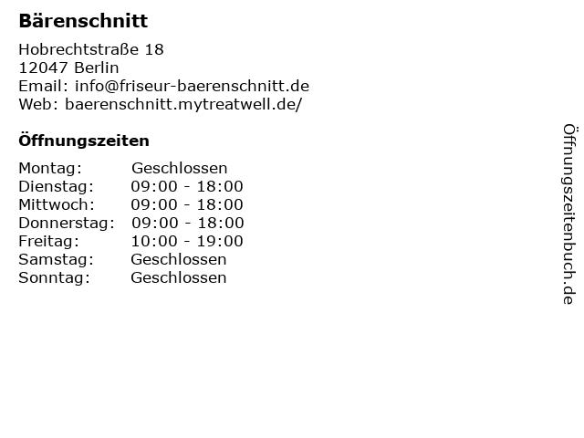 Bärenschnitt in Berlin: Adresse und Öffnungszeiten