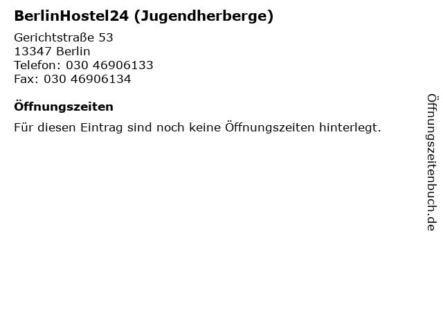 BerlinHostel24 (Jugendherberge) in Berlin: Adresse und Öffnungszeiten