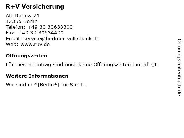 Berliner Volksbank eG - FilialCenter Rudow (Geldautomat) in Berlin: Adresse und Öffnungszeiten