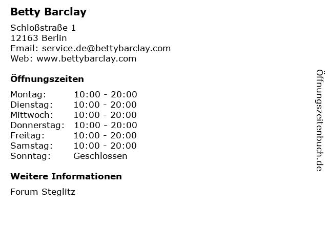 Betty Barclay GmbH & Co. KG in Berlin: Adresse und Öffnungszeiten