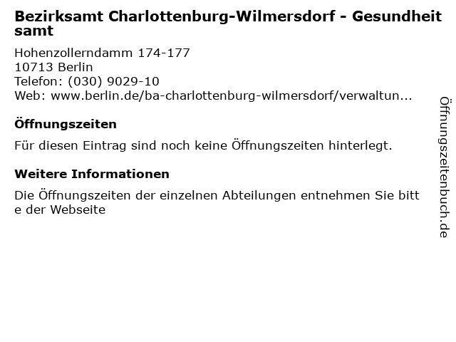 Rote Karte Gesundheitsamt Berlin.ᐅ Offnungszeiten Bezirksamt Charlottenburg Wilmersdorf