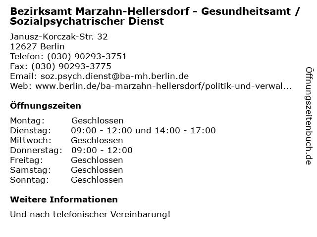 Rote Karte Gesundheitsamt Berlin.ᐅ Offnungszeiten Bezirksamt Marzahn Hellersdorf