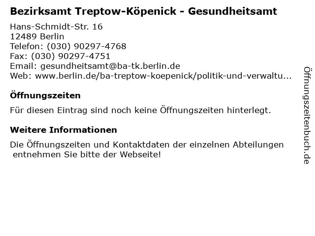 Rote Karte Gesundheitsamt Berlin.ᐅ Offnungszeiten Bezirksamt Treptow Kopenick