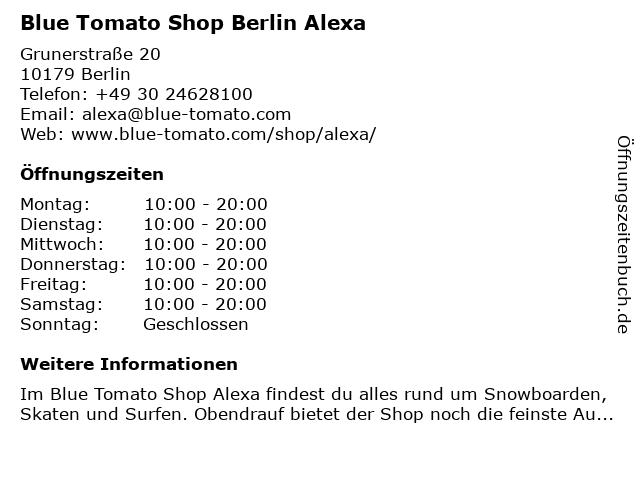 Blue Tomato Shop Berlin Alexa in Berlin: Adresse und Öffnungszeiten