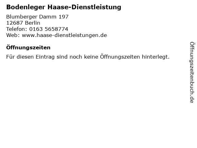 Bodenleger Haase-Dienstleistung in Berlin: Adresse und Öffnungszeiten