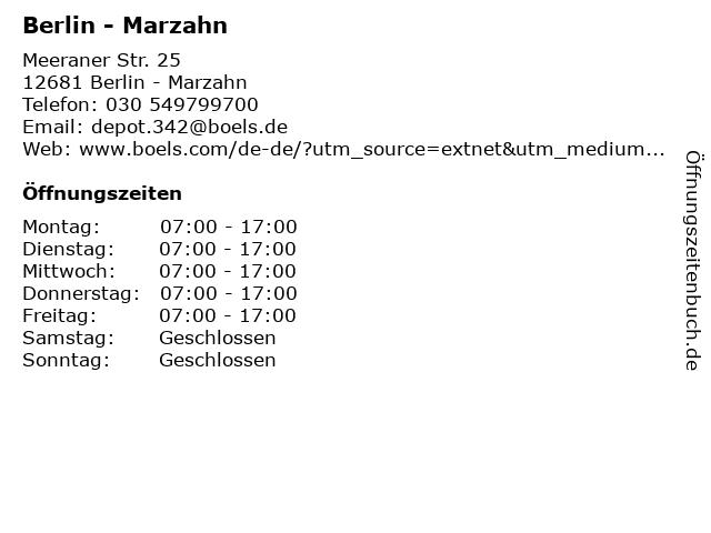 Boels Verleih GmbH in Berlin: Adresse und Öffnungszeiten