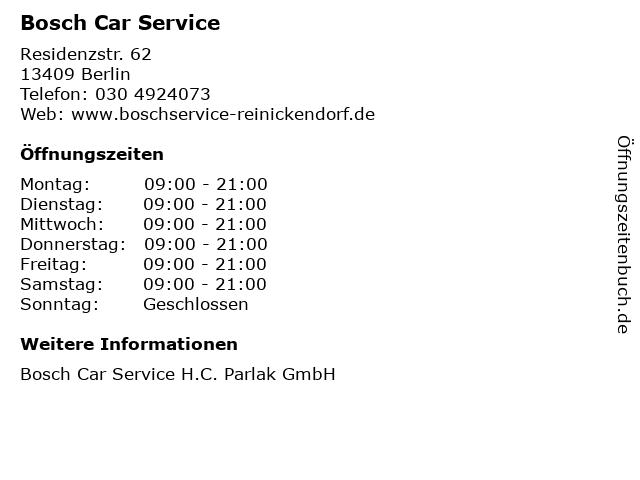 Bosch Car Service in Berlin: Adresse und Öffnungszeiten