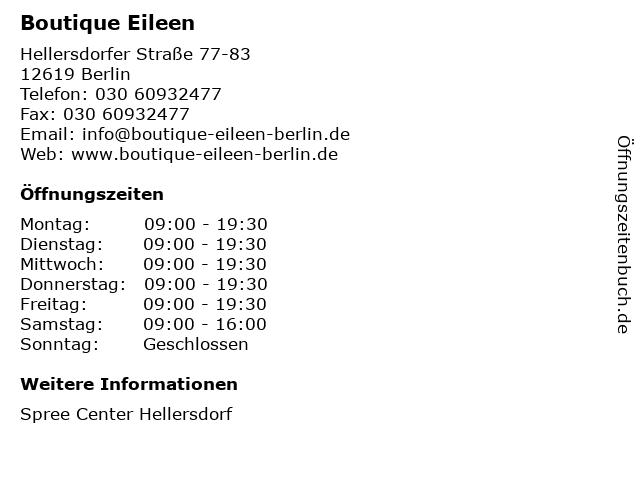 Boutique Eileen in Berlin: Adresse und Öffnungszeiten