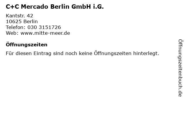 C+C Mercado Berlin GmbH i.G. in Berlin: Adresse und Öffnungszeiten