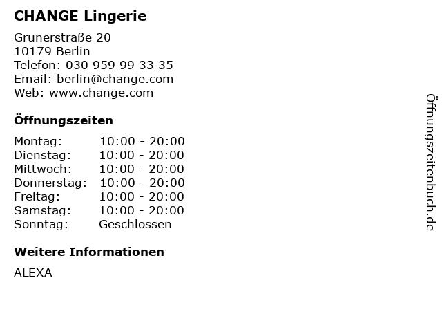 CHANGE of Scandinavia Germany GmbH in Berlin: Adresse und Öffnungszeiten