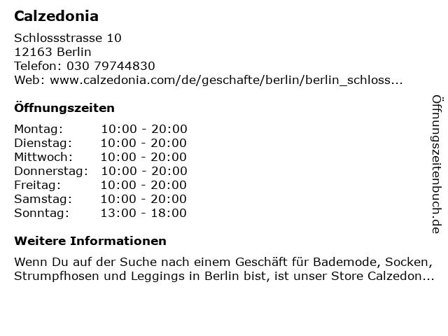 Calzedonia Germany GmbH in Berlin: Adresse und Öffnungszeiten