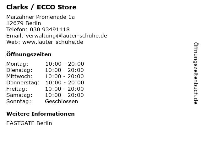 Clarks / ECCO Store in Berlin: Adresse und Öffnungszeiten