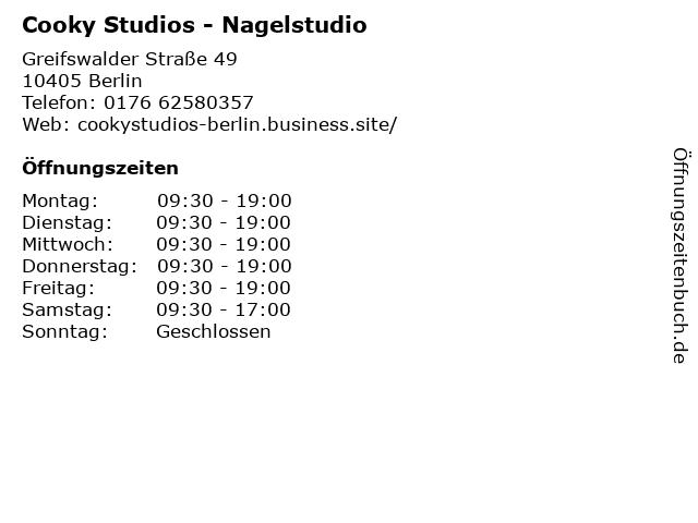 Cooky Studios - Nagelstudio in Berlin: Adresse und Öffnungszeiten