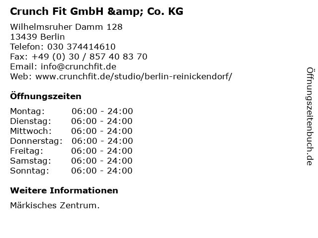 Crunch Fit GmbH & Co. KG in Berlin: Adresse und Öffnungszeiten