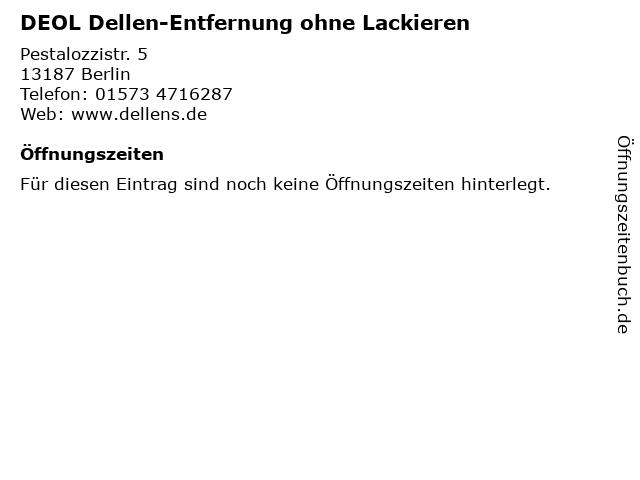 DEOL Dellen-Entfernung ohne Lackieren in Berlin: Adresse und Öffnungszeiten