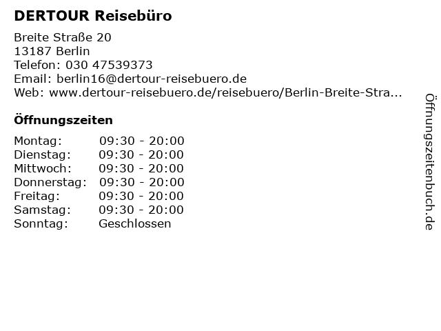 DER Deutsches Reisebüro in Berlin: Adresse und Öffnungszeiten