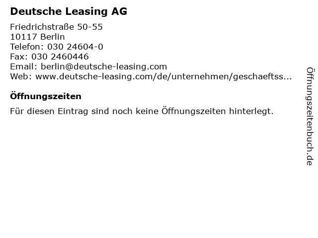 Deutsche Leasing AG in Berlin: Adresse und Öffnungszeiten