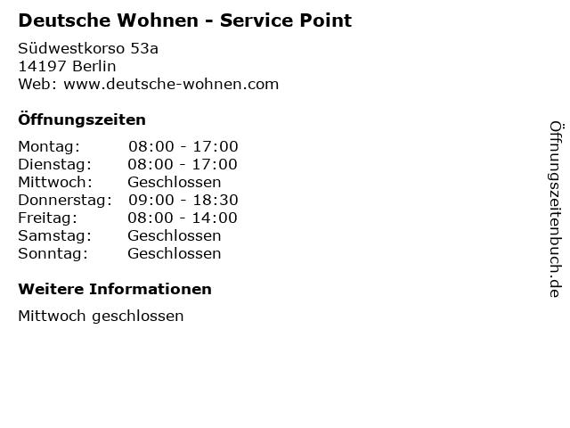 Deutsche Wohnen - Service Point in Berlin: Adresse und Öffnungszeiten