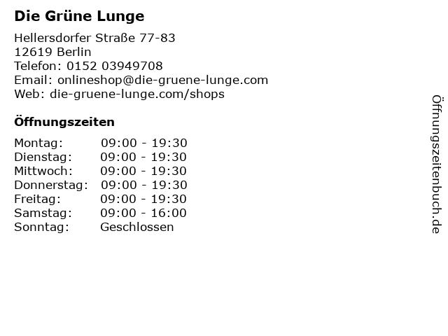 Die Grüne Lunge in Berlin: Adresse und Öffnungszeiten
