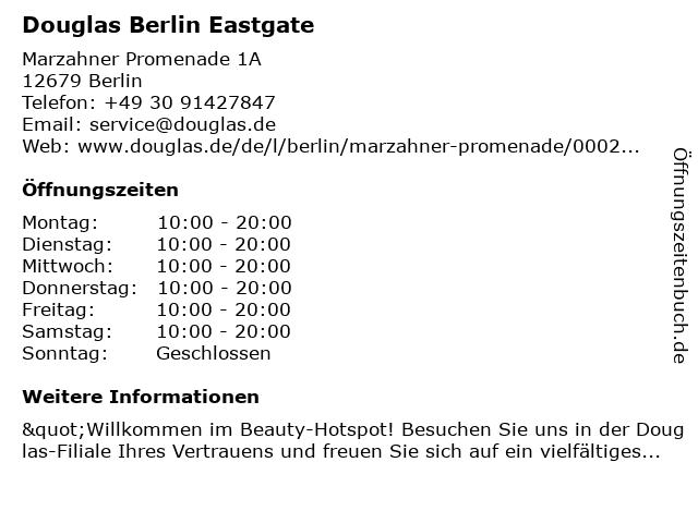 Parfümerie Douglas Berlin Marzahn in Berlin: Adresse und Öffnungszeiten