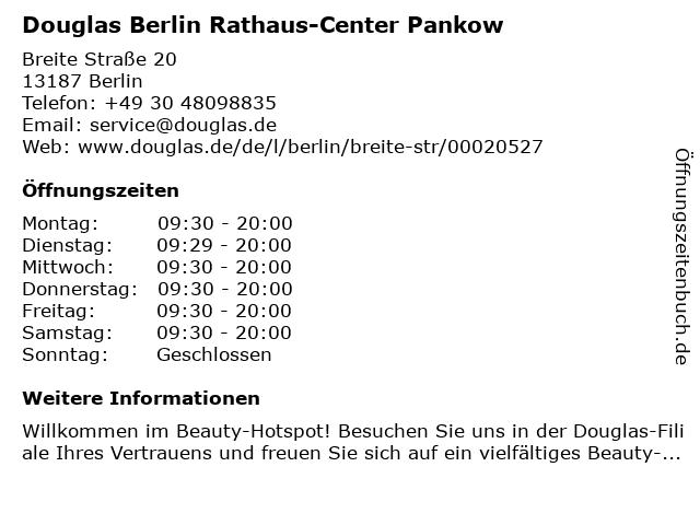 Parfümerie Douglas Berlin Pankow in Berlin: Adresse und Öffnungszeiten