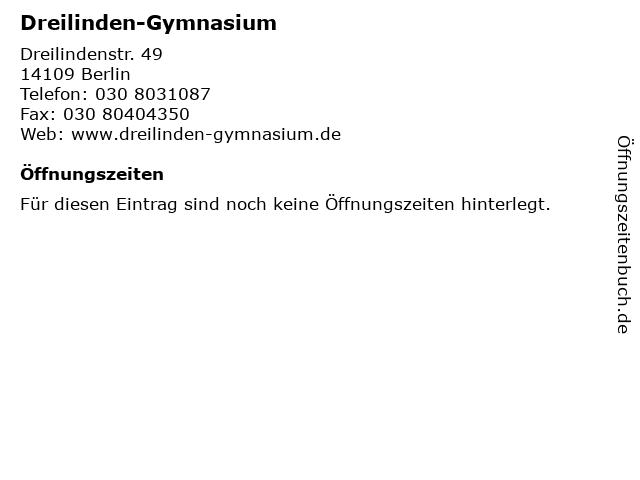 Dreilinden-Gymnasium in Berlin: Adresse und Öffnungszeiten