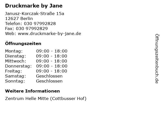 Druckmarke by Jane in Berlin: Adresse und Öffnungszeiten