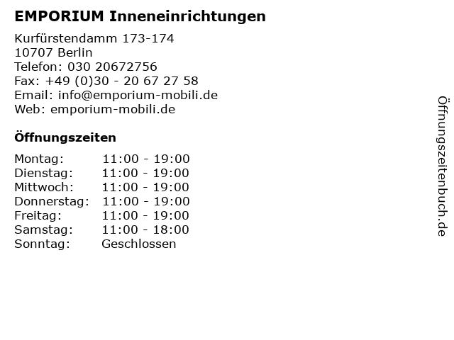 Bilder Zu EMPORIUM Inneneinrichtungen In Berlin