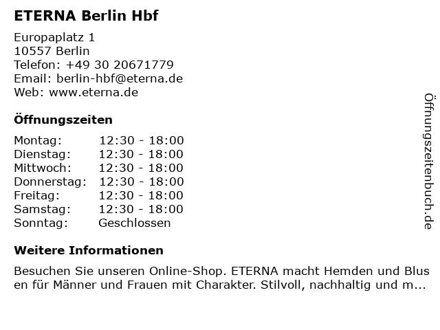 ETERNA Brand Store in Berlin: Adresse und Öffnungszeiten