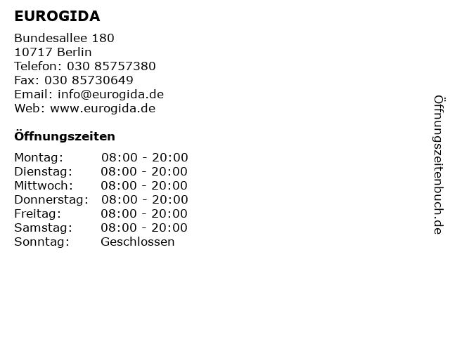 EUROGIDA in Berlin: Adresse und Öffnungszeiten