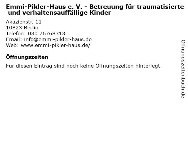 Emmi-Pikler-Haus e. V. - Betreuung für traumatisierte und verhaltensauffällige Kinder in Berlin: Adresse und Öffnungszeiten