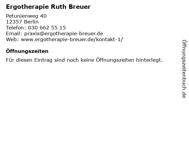 Ergotherapie Ruth Breuer in Berlin: Adresse und Öffnungszeiten
