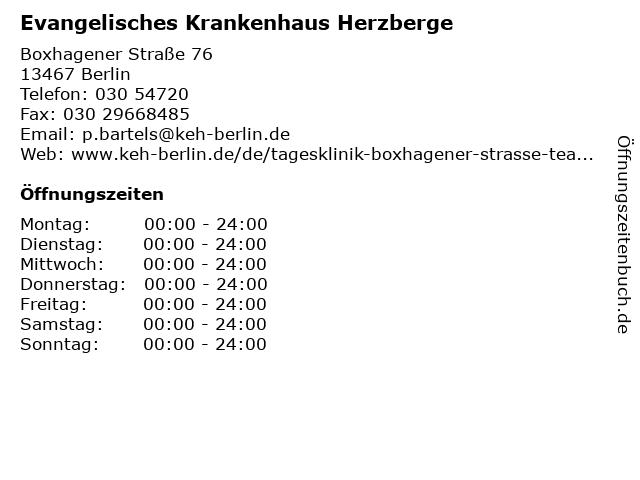 Evangelisches Krankenhaus Herzberge in Berlin: Adresse und Öffnungszeiten