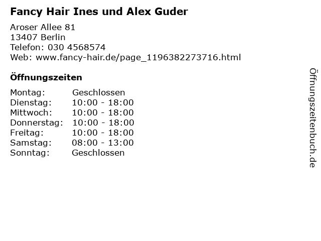 Fancy Hair Ines und Alex Guder in Berlin: Adresse und Öffnungszeiten