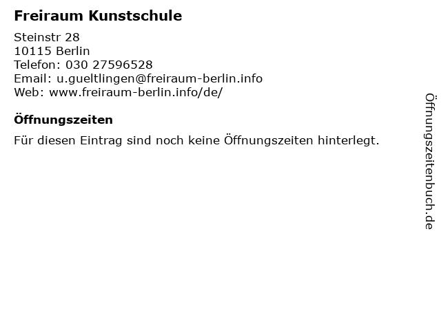 Freiraum Kunstschule in Berlin: Adresse und Öffnungszeiten